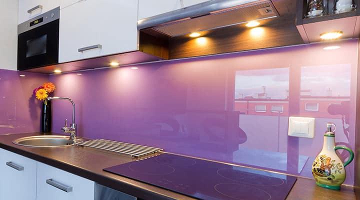 Panele szklane kuchenne z fotofolią jednokolorowe