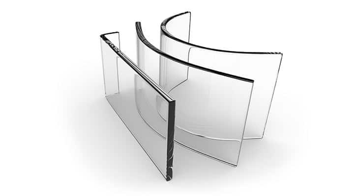 Usługi - gięcie szkła
