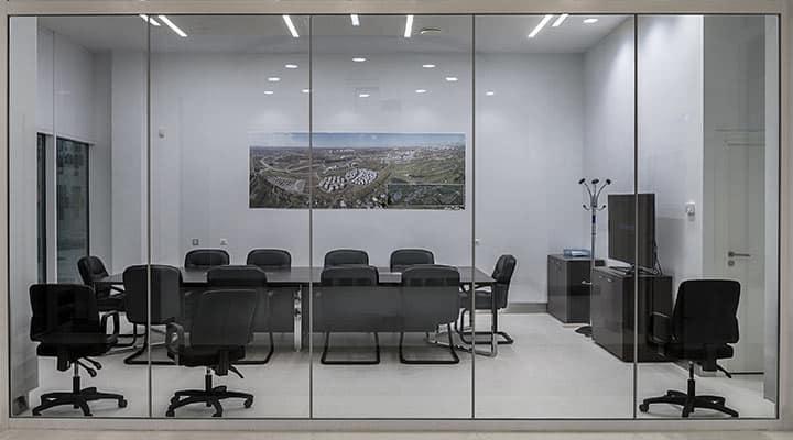 Ścianki szklane - sala konferencyjna